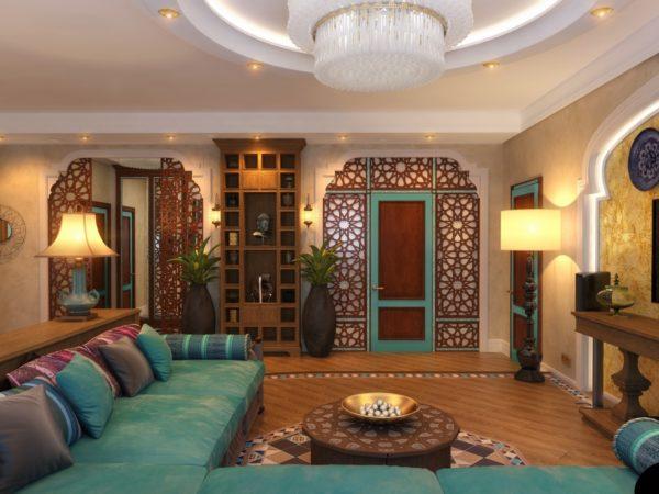 Восточный стиль в гостиной