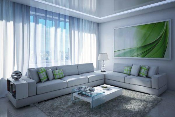 Оригинальная картина в гостиной