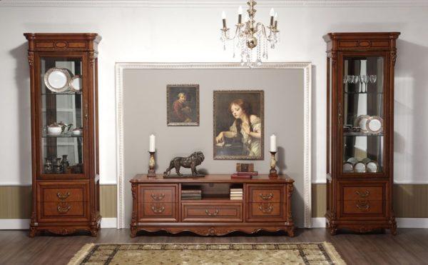 Деревянная мебель для зала