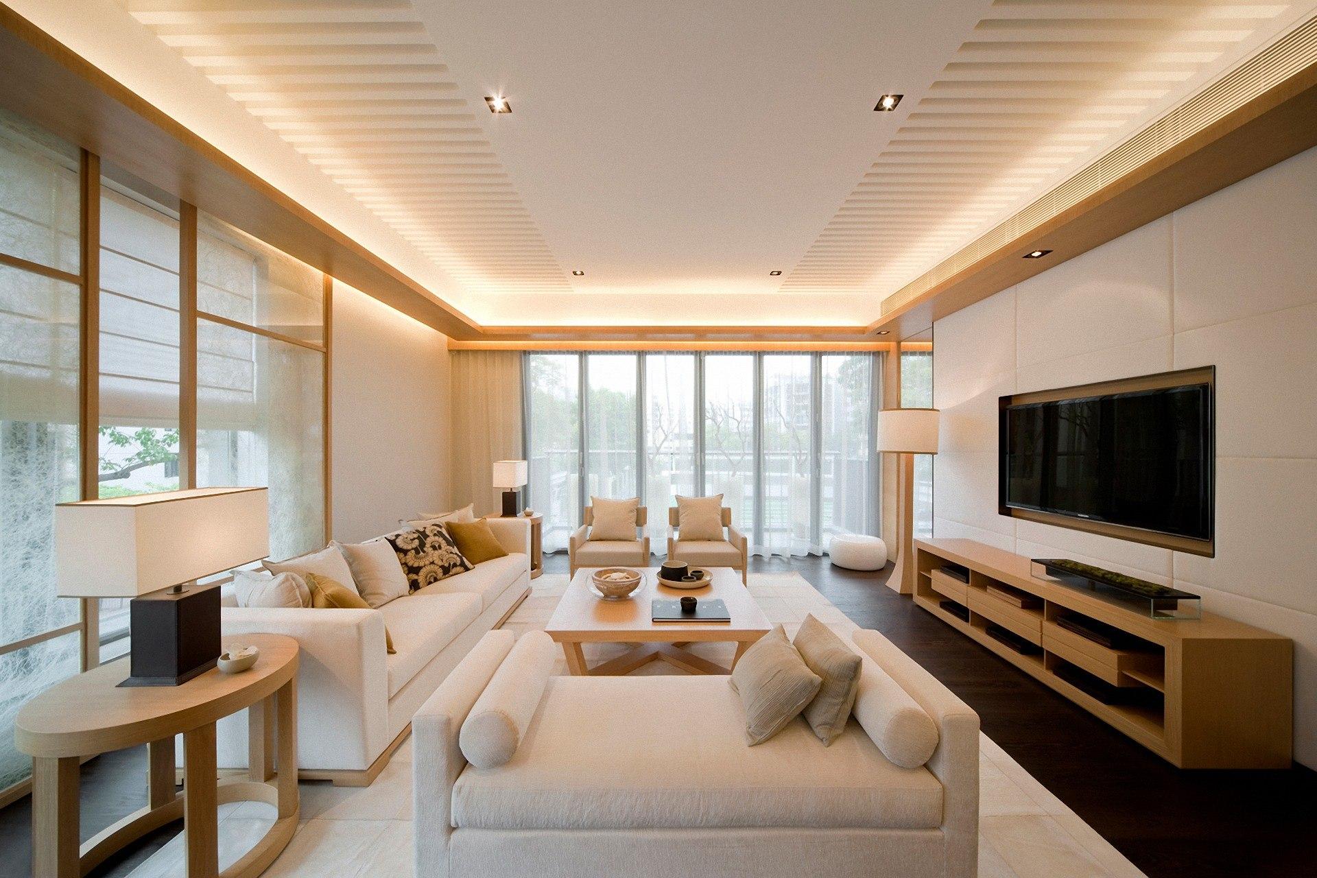Дизайн прямоугольных гостиных