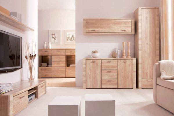 Корпусная мебель для гостиной в Эко-стиле