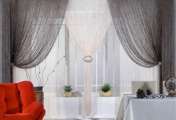 Классический стиль в оформлении нитяных штор