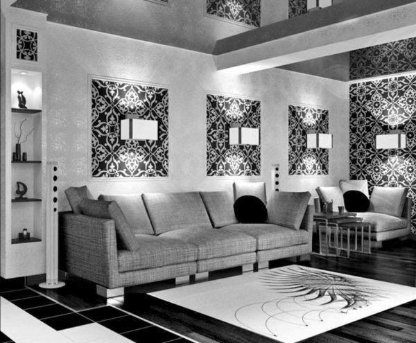 Чёрно-белый зал