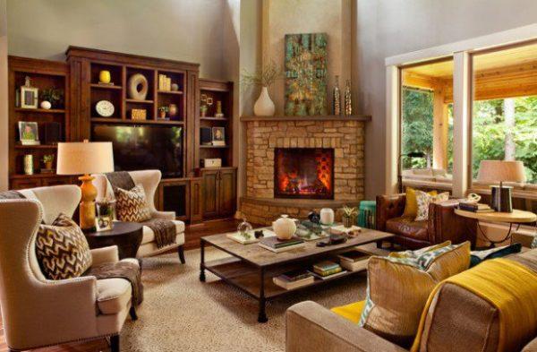 Уютная гостина в британском стиле
