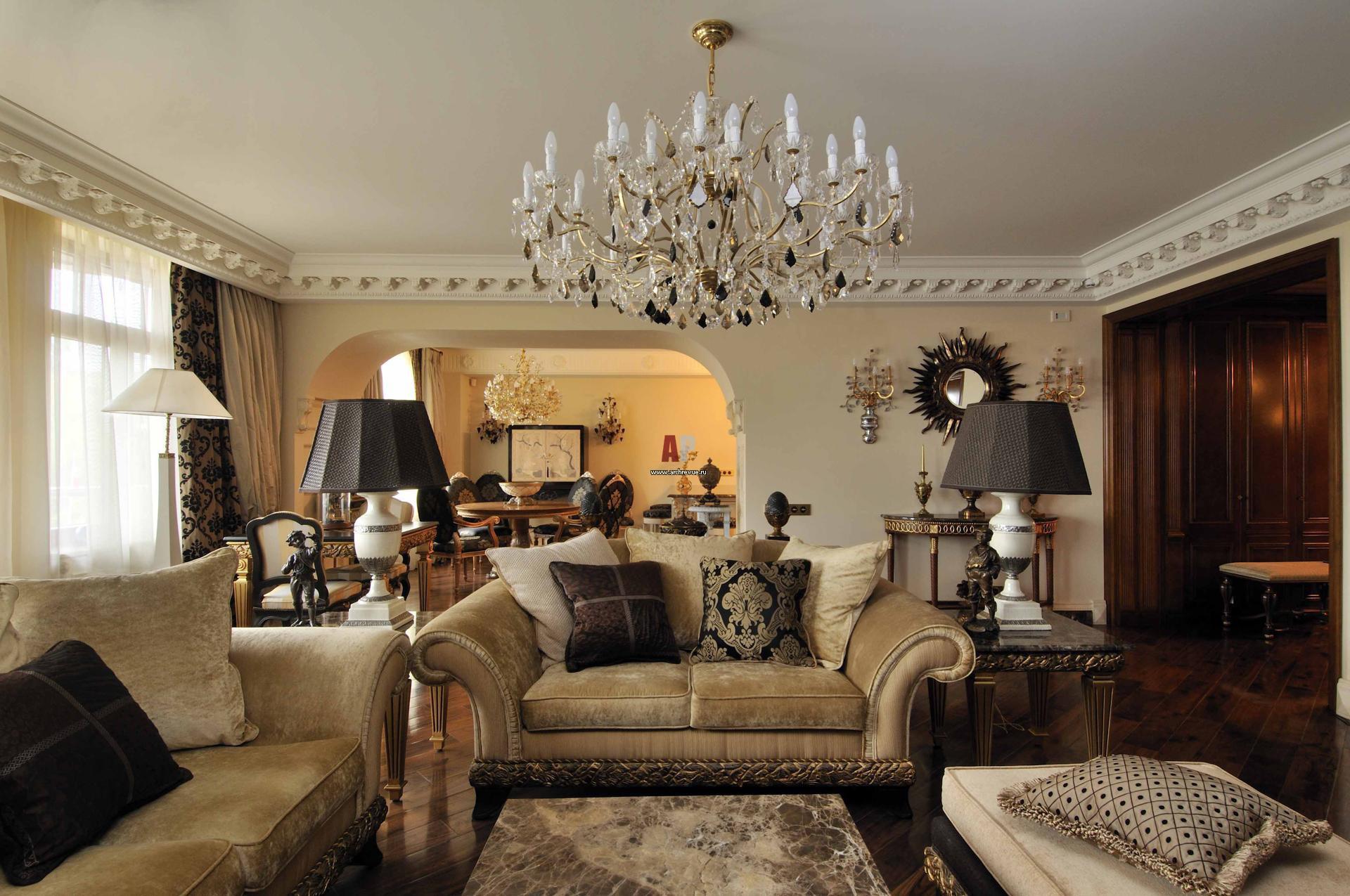 Гостиная в английском стиле — фото интерьеров