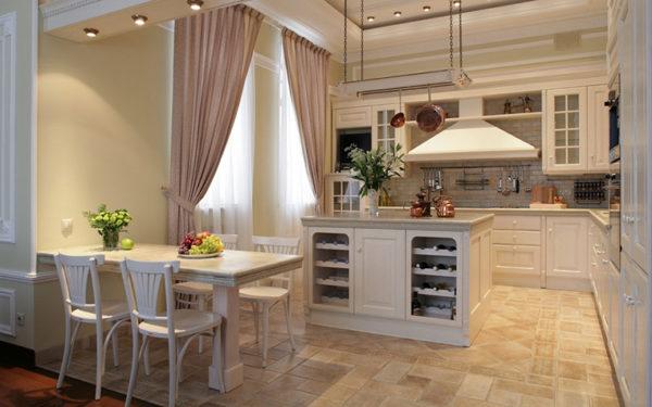 Фото зонирование кухни-гостиной