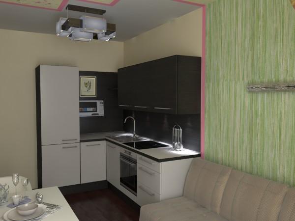 Фото небольшой угловой кухни в интерьере