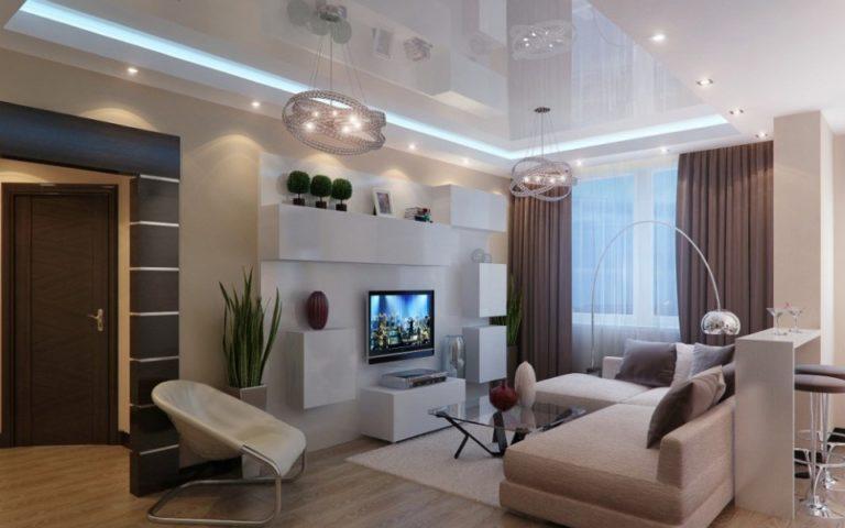 Фото дизайна интерьера в белом бежевом цвете