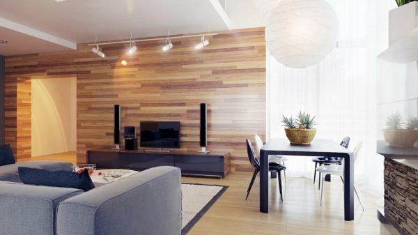 Дизайн гостиной деревом фото