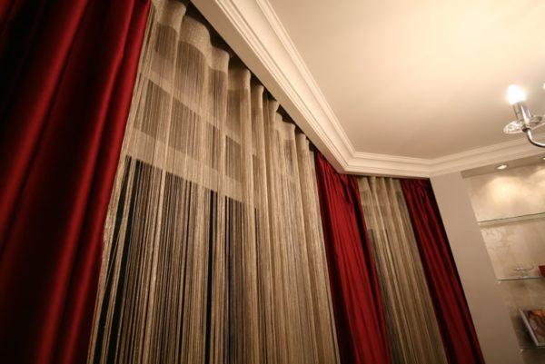 Крепление шторы кисея