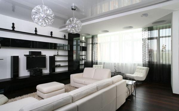 Белая мебель в зале