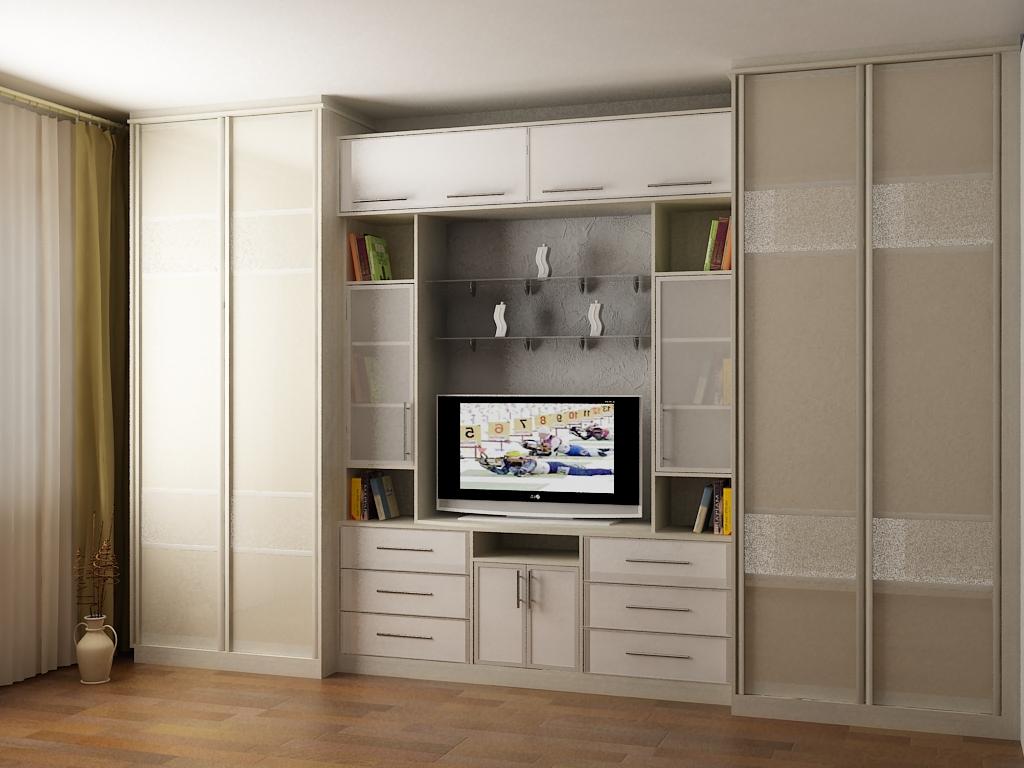 Шкаф стенка в гостиную - фото современных вариантов.
