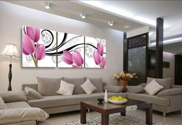 Модульная картина с тюльпанами