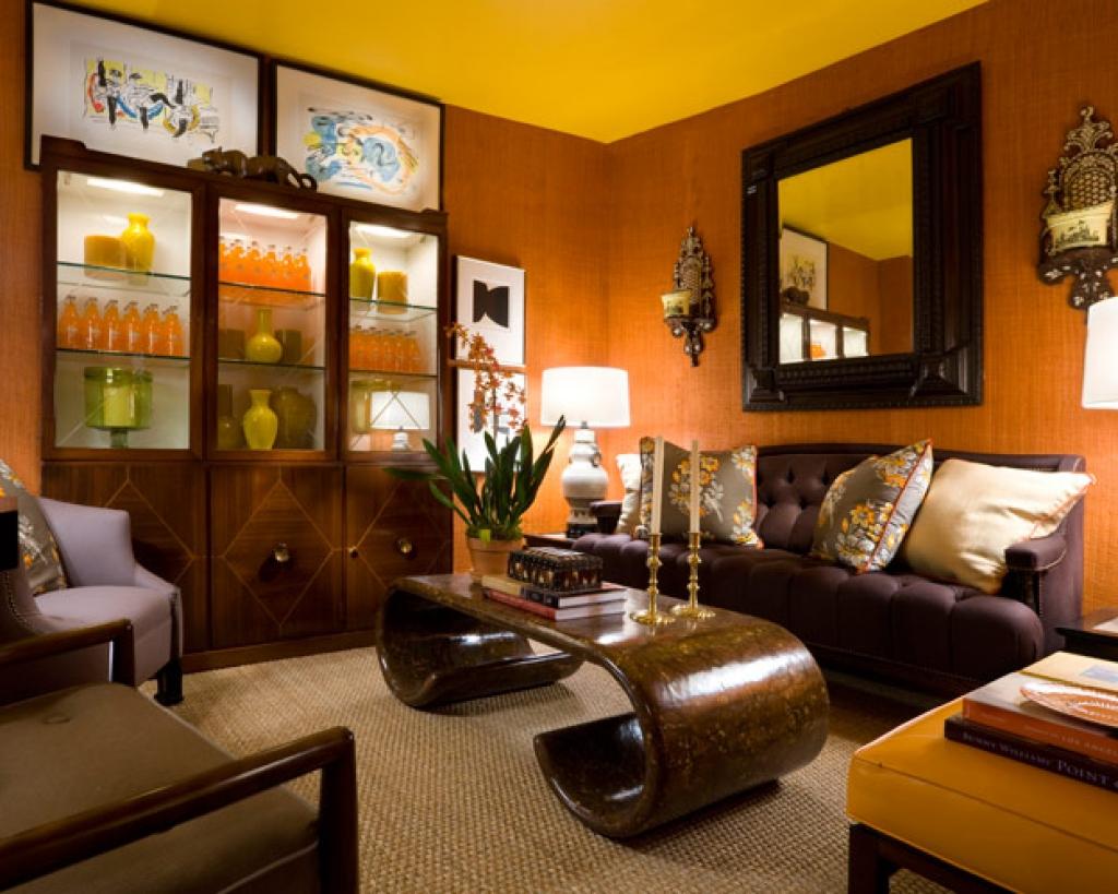 Гостиная в коричневых тонах 50 фото примеров