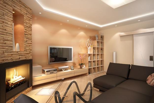 Отделка гостиной комнаты — фото в современном стиле