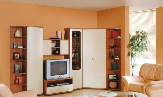 Угловая стенка в гостиную в современном стиле — 50 фото вариантов оформления