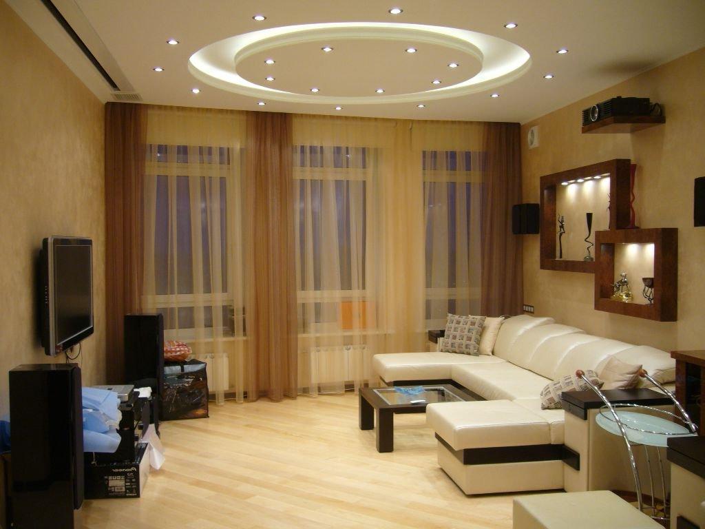 Простой дизайн гостиной в доме