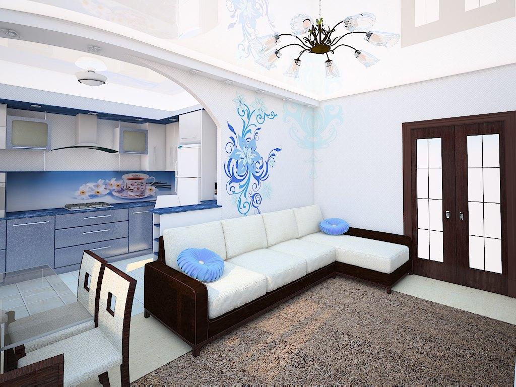 кухня-гостиная 36 кв.м дизайн фото