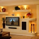 Как оформить стены в современном дизайне гостиной