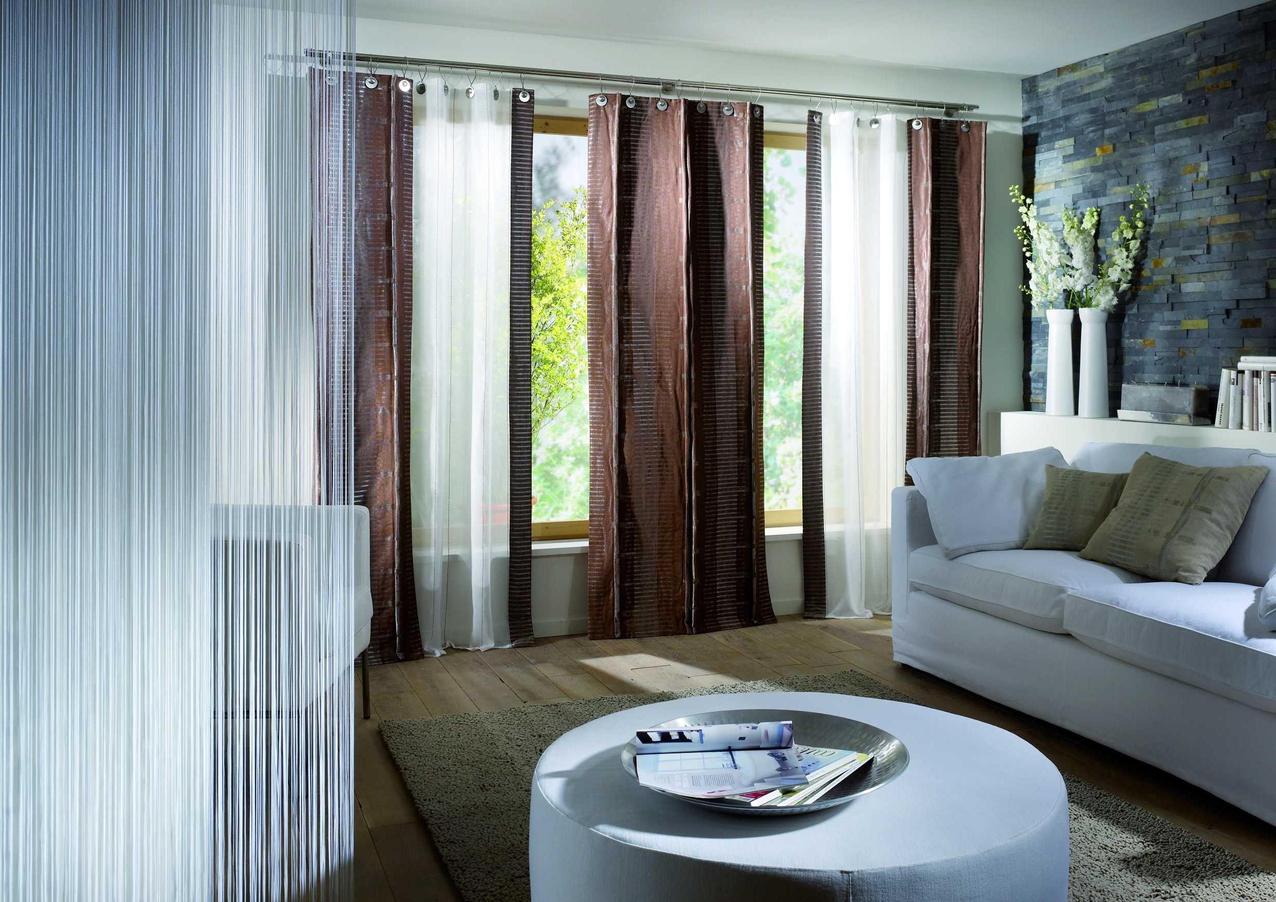 Современный дизайн шторы в гостиную