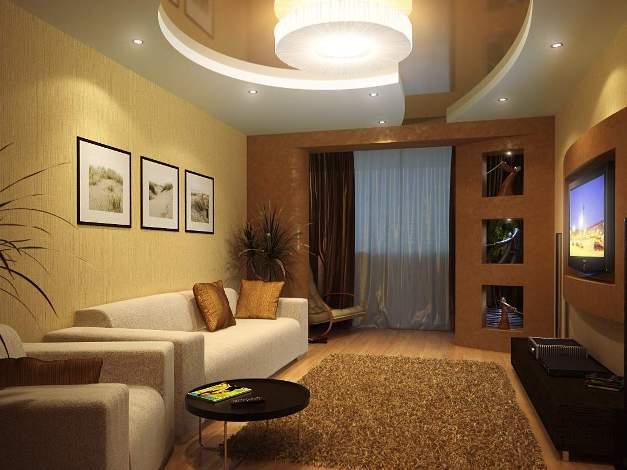 Интерьер зала маленького фото
