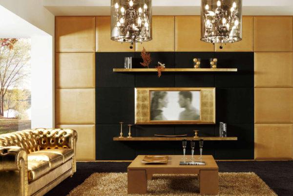 Корпусная мебель для гостиной в стиле Ар-деко