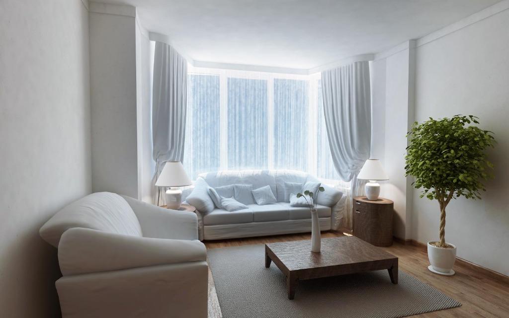 Комната с одним окном в эркере дизайн
