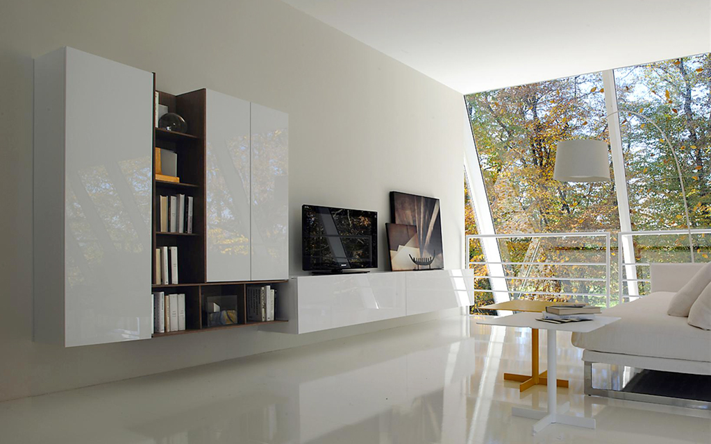 Шкаф стенка в гостиную — фото современных вариантов