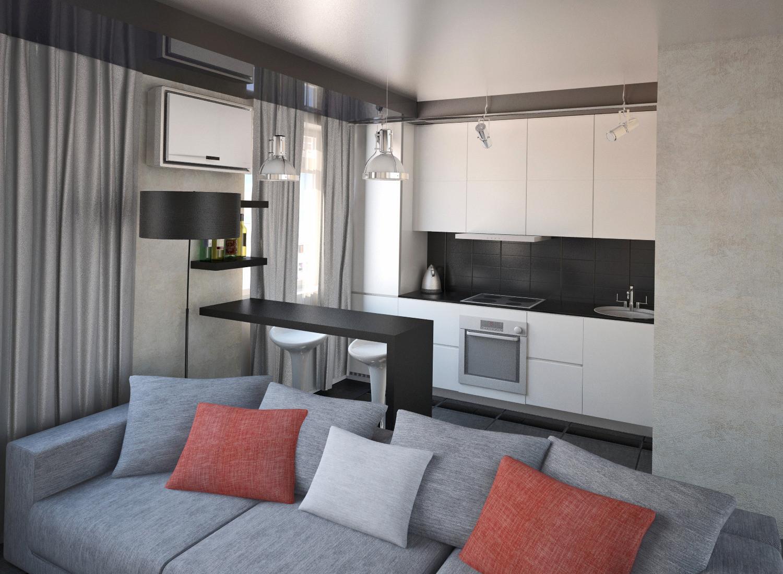 Смотреть дизайн однокомнатной квартиры 18 кв.м