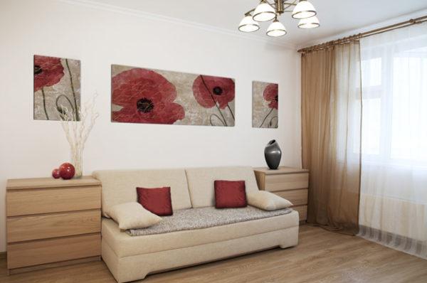 Минимализм в небольшой гостиной