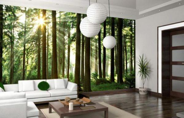 Лесной массив в гостиной
