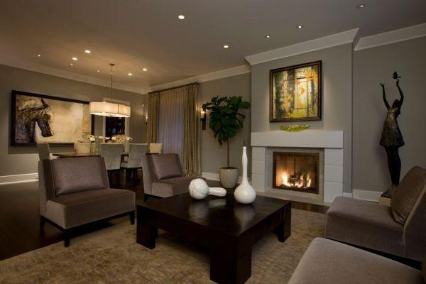 Дизайн гостиной в частном доме — фото вариантов отделки