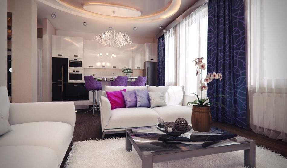 Дизайн проекты студии гостинной