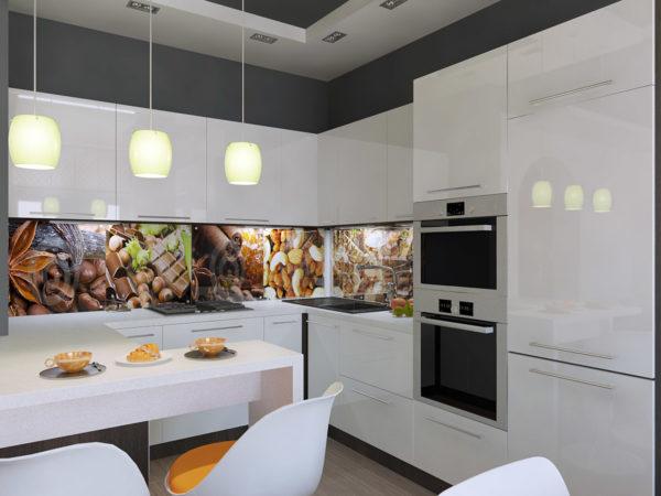 Светильники в кухне-гостиной фото