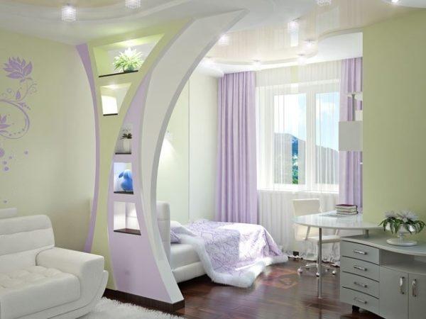Разделение гостиной-спальни