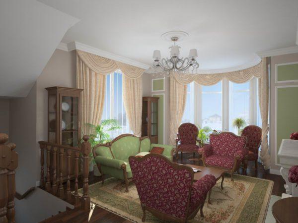 Два окна в комнате в доме