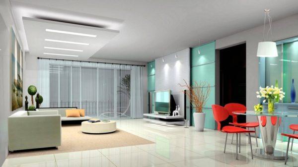 Столовая-гостиная в минимализме