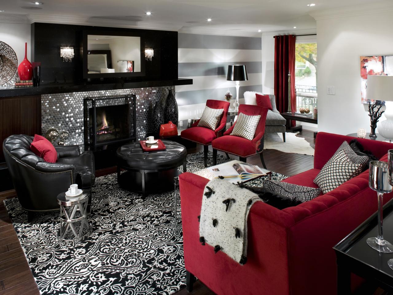 Черно белый интерьер гостиной фото
