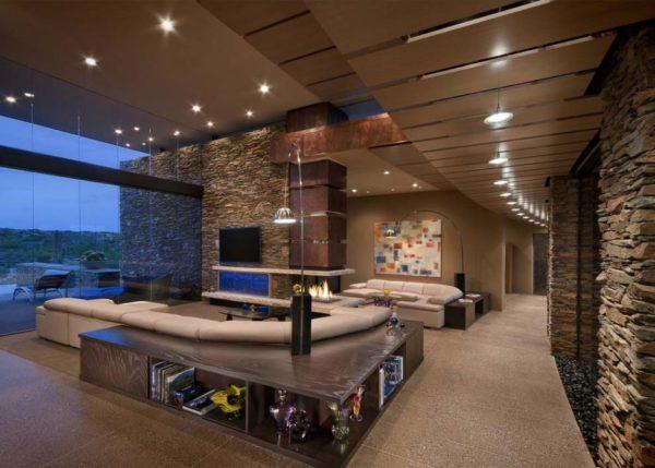 Современый дизайн зала