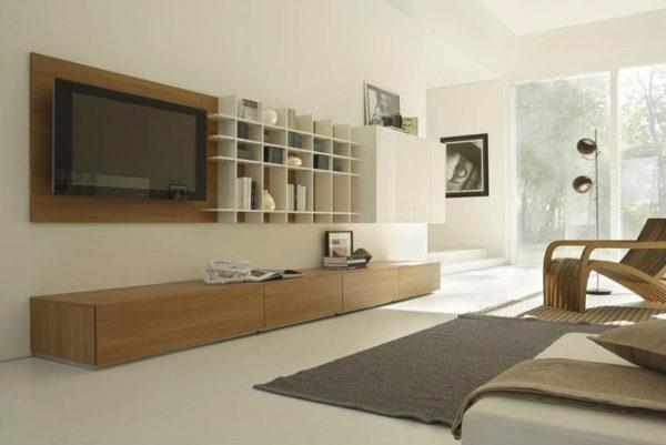 Корпусная мебель для гостиной в стиле минимализм