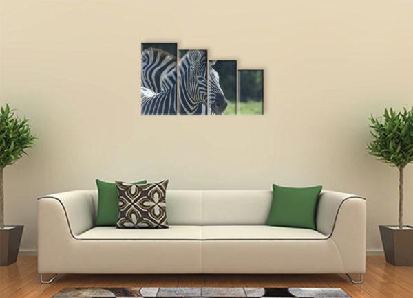 Зебра намодульной картине