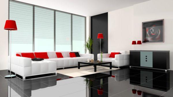 Красный цвет в минимализме