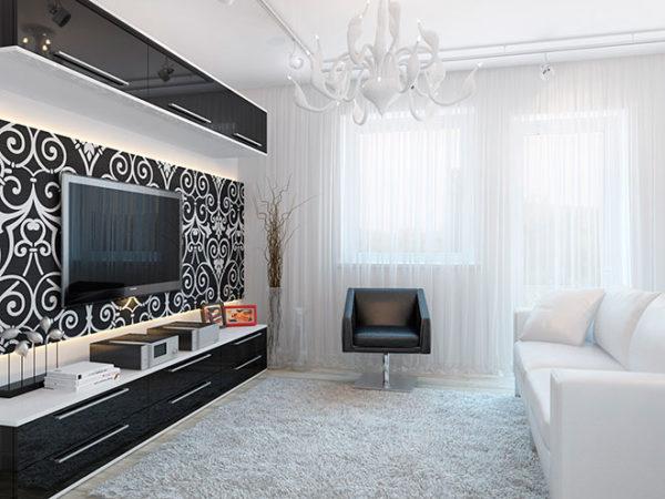 Чёрно-белый небольшой зал