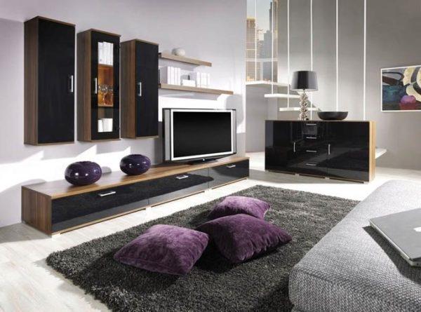 Корпусная мебель для гостиной в стиле хай-тек