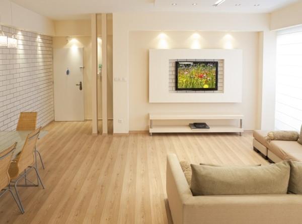 Простой дизайн в гостиной