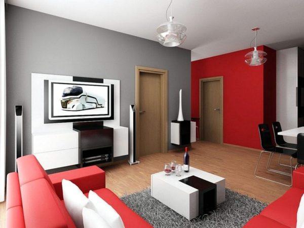 Красная мебель в интерьере