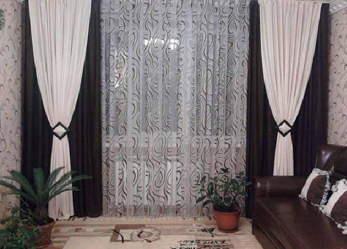 Фото дизайна современных штор