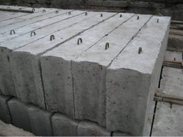 Бетонные блоки для фундамента