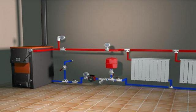 Система отопления закрытого типа в частном доме