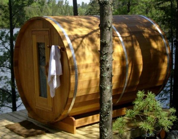 Финская баня бочка своими руками
